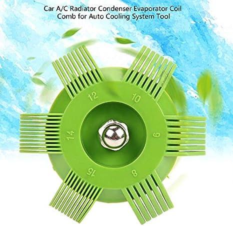 SEN Car A//C Radiatore Condensatore Evaporatore Coil Comb per Sistema di Raffreddamento Automatico Strumento Verde e Rosso