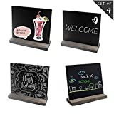 Wisdom Mini Chalkboard Signs for Table 5 x 6 inch Message Tabletop Chalkboard Sign for Food Party Wedding with Wood Base Stands Set of 4