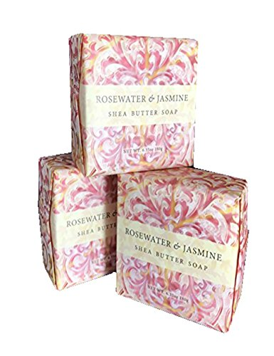 Natural Spa Apricot (Greenwich Bay Exfoliating Spa Soap, Shea Butter, and Cocoa Butter. Blended with Loofah and Apricot Seed, No Parabens, No Sulfates 6.35 Oz. (3 Pack) … (Rosewater Jasmine))