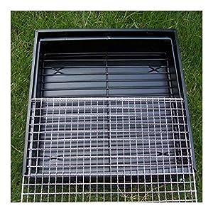 JNT- portatile pieghevole in acciaio inox Outdoor picnic Griglia for barbecue termoresistente anti corrosione Charcoal… 6 spesavip