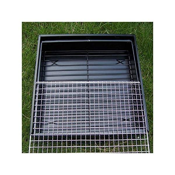 JNT- portatile pieghevole in acciaio inox Outdoor picnic Griglia for barbecue termoresistente anti corrosione Charcoal… 1 spesavip