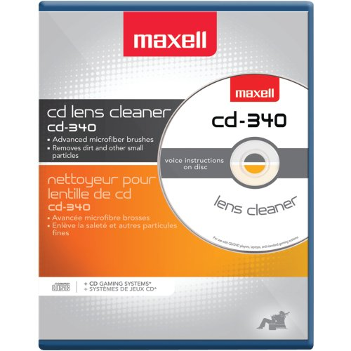 Maxell CD370 CD Jewel Case (Package of (3 Brush Laser Lens)