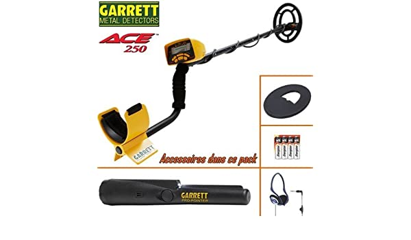 Garrett Ace 250 - Detector de metal, protector de disco, auriculares con cable plegables y Pro-Pointer para encontrar objetos con facilidad: Amazon.es: ...