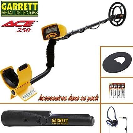 Garrett Ace 250 - Detector de metal, protector de disco, auriculares con cable plegables