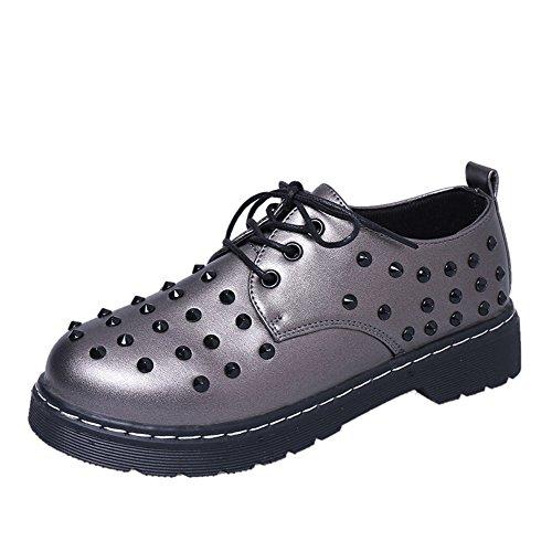 zapatos de moda remache bajo corte de primavera/Corea ocio Joker zapatos de talón redondo C