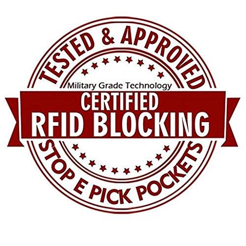 Huztencor Women's Credit Card Holder RFID Blocking Leather Multi Card Organizer Wallet Slim Long Zipper Bi-fold Business Card Case Clutch Wallet with ID Window Black (FBA) by Huztencor (Image #7)