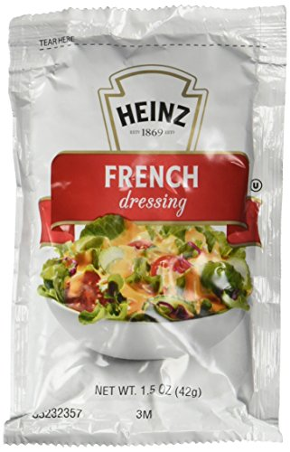 Heinz Dressing, Heart Healthy French, Fat Free, 1.5-Ounce Pouch (Pack of 60) by Heinz