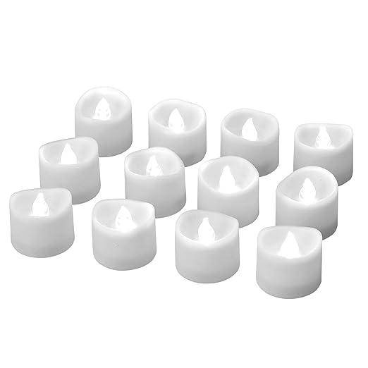 ELander - Velas LED sin llama con temporizador, modo ...