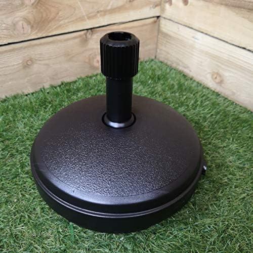 KD & JAY - Base de plástico para sombrilla (depósito de agua de 7 L): Amazon.es: Jardín