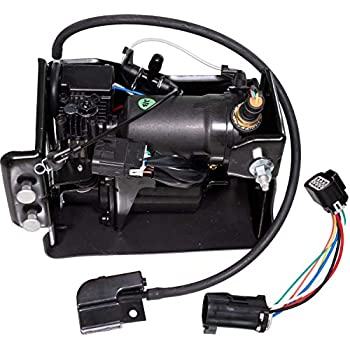 Image of Air Suspension Kits APDTY 050100 Air Ride Suspension Compressor Fits 2001-2014 Escalade Avalanche Suburban Tahoe Yukon (Replaces 10395825, 15056494, 15070878, 15101577, 15254590, 15296756, 15949881, 19299545, 20837299)