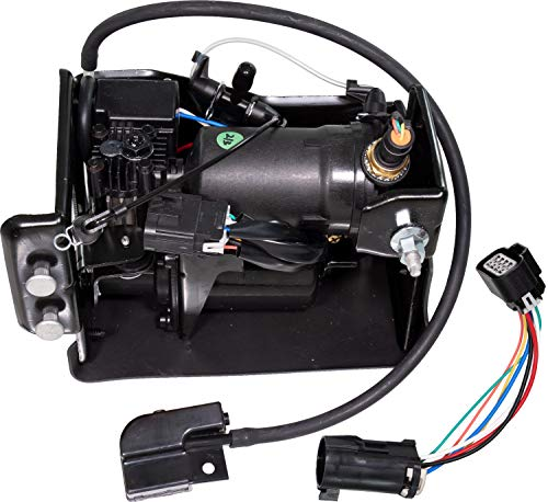 APDTY 050100 Air Ride Suspension Compressor Fits 2001-2014 Escalade Avalanche Suburban Tahoe Yukon (Replaces 10395825, 15056494, 15070878, 15101577, 15254590, 15296756, 15949881, 19299545, 20837299) ()