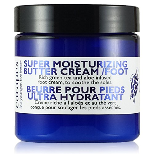 Foot Cream for Cracked Heels, Dry Feet, Carapex Foot Super Moisturizing Butter Cream, Natural Unscented Relief for Dryness, Itchiness, Dry Heels, Helps Soften Callus, 4oz