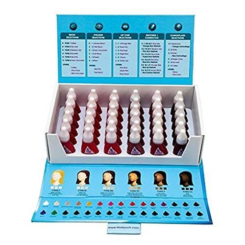 Permanent Lip Makeup - 36 Bottle Set BIO TOUCH PURE Permanent Makeup Pigment Lip Tone Tattoo Ink Color