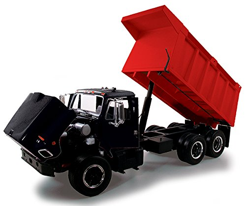 First Gear 1/25 scale Diecast Collectible Black/Red International 'S' Series Dump Truck (#40-0199B)