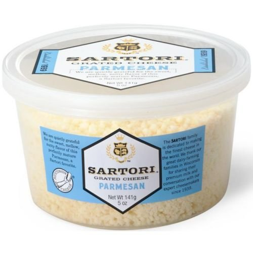 Sartori Classic Parmesan Grated Cheese, 5 Ounce Cup - 12 per case.