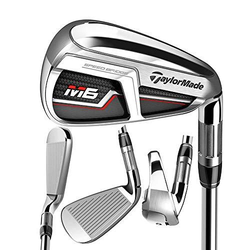 TaylorMade Golf M6 Iron Set, 5-PW, AW, SW, Right Hand, Regular Flex Shaft: KBS Max 85