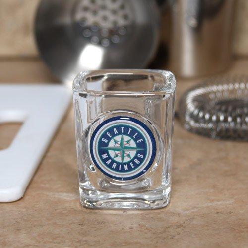 MLB Seattle Mariners 2oz. Domed Logo Square Shot Glass