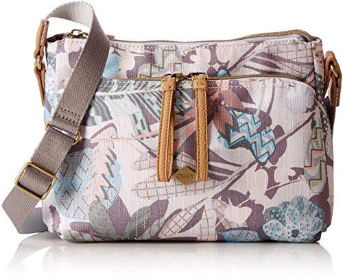Oilily Damen S Shoulder Bag Umhängetasche, 9x19x26 cm Weiß (Oyster White)