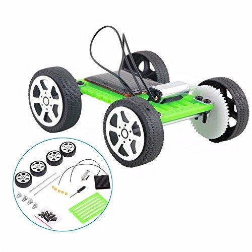 Elevin(TM) 1 Set Mini Solar Powered Toy DIY Car Kit Children Educational Gadget Hobby Funny from Elevin(TM) _ Toys & Joker