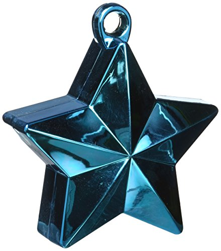 Star Foil Balloon Weight | Caribbean Blue | Party Decor | 12 Ct.
