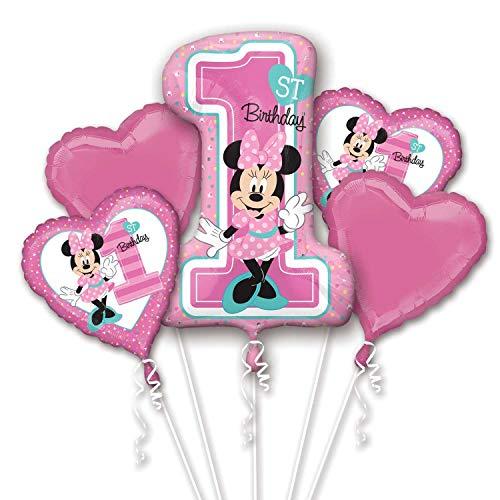 Minnie Mouse First Birthday Party Supplies (ANAGRAM INTERNATIONAL 84664 BOUQUET MINNIE 1ST BIRTHDAY, Various,)