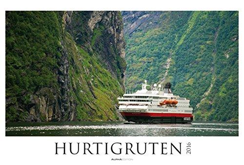 Hurtigruten 2016 - Postschiffe/Norwegen - Bildkalender XXL (68 x 46) - Landschaftskalender - Naturkalender