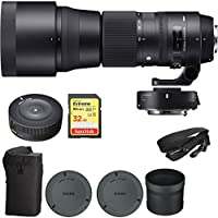 Sigma 150-600mm F5-6.3 Contemporary Lens and TC-1401 1.4X Teleconverter Kit for Canon (ZB954) with Sigma USB Dock for Canon Lens & Lexar 32GB Professional 1000x SDHC Class 10 UHS-II Memory Card