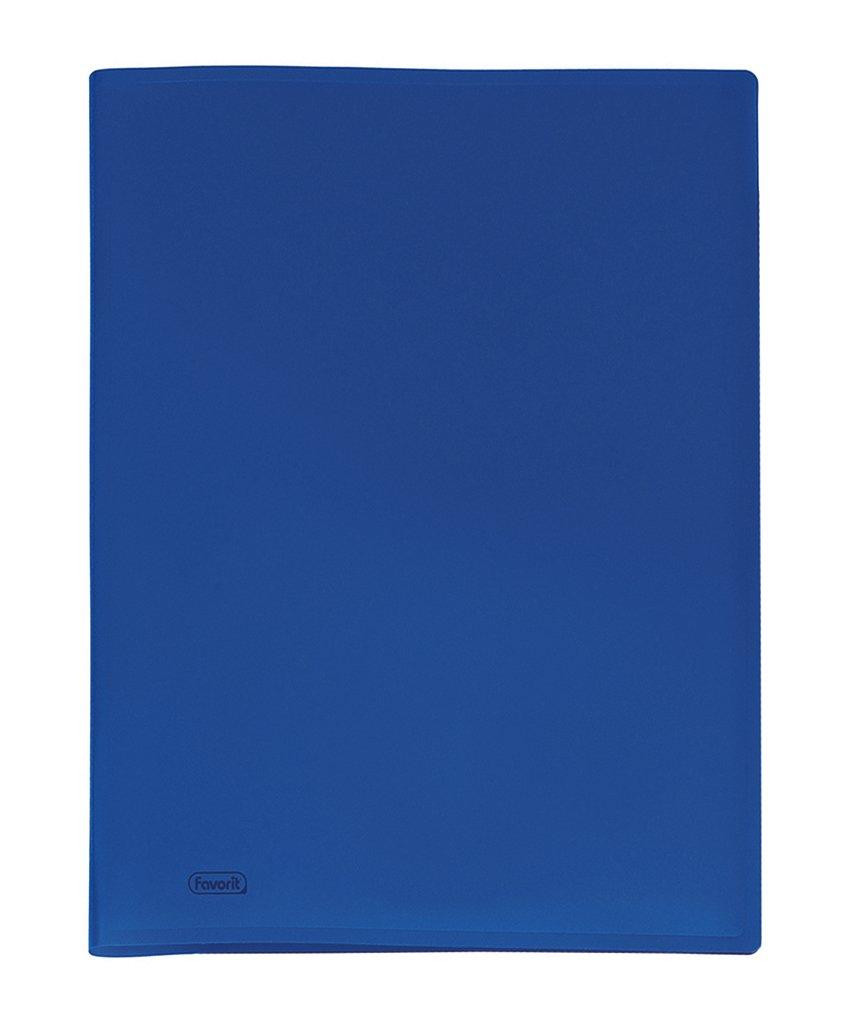 Favorit 400035525 Portalistino con 50 Buste Formato Interno 22x30 cm, Blu