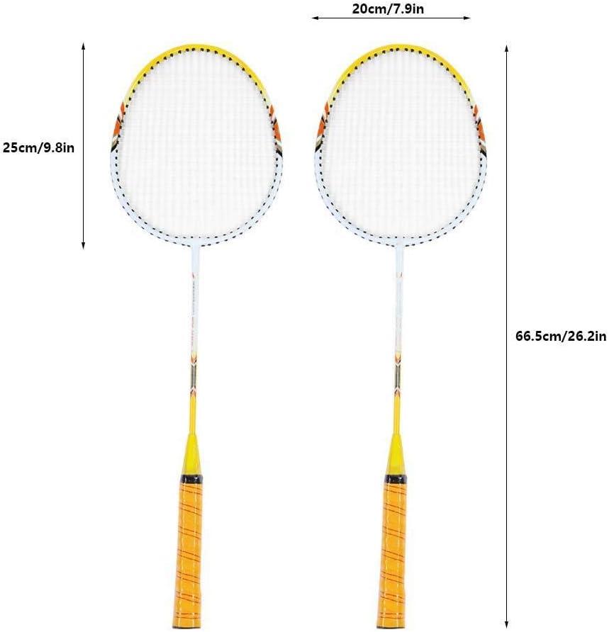 1 Paire de Raquette de Badminton Ensemble l/éger Raquettes d/'entra/înement avec Sac Tbest Ensemble de Raquette de Badminton Famille