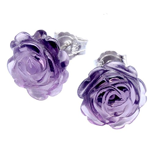 JOVIVI Sterling Silver Amethyst Earrings