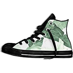 NAFQ Plants Palm Classic Canvas Sneakers Shoes Lace Up Unisex High Top