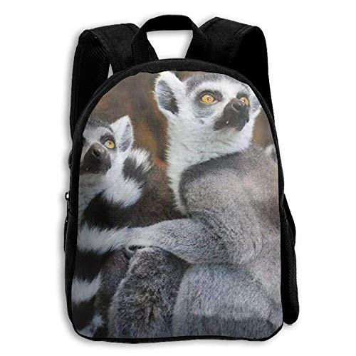 Animals Lemurs Wild Nature Kids Backpack,School Bag Student Casual Nylon Backpack for Primary School Students]()