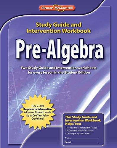 Pre-Algebra, Study Guide & Intervention Workbook (MERRILL PRE-ALGEBRA)