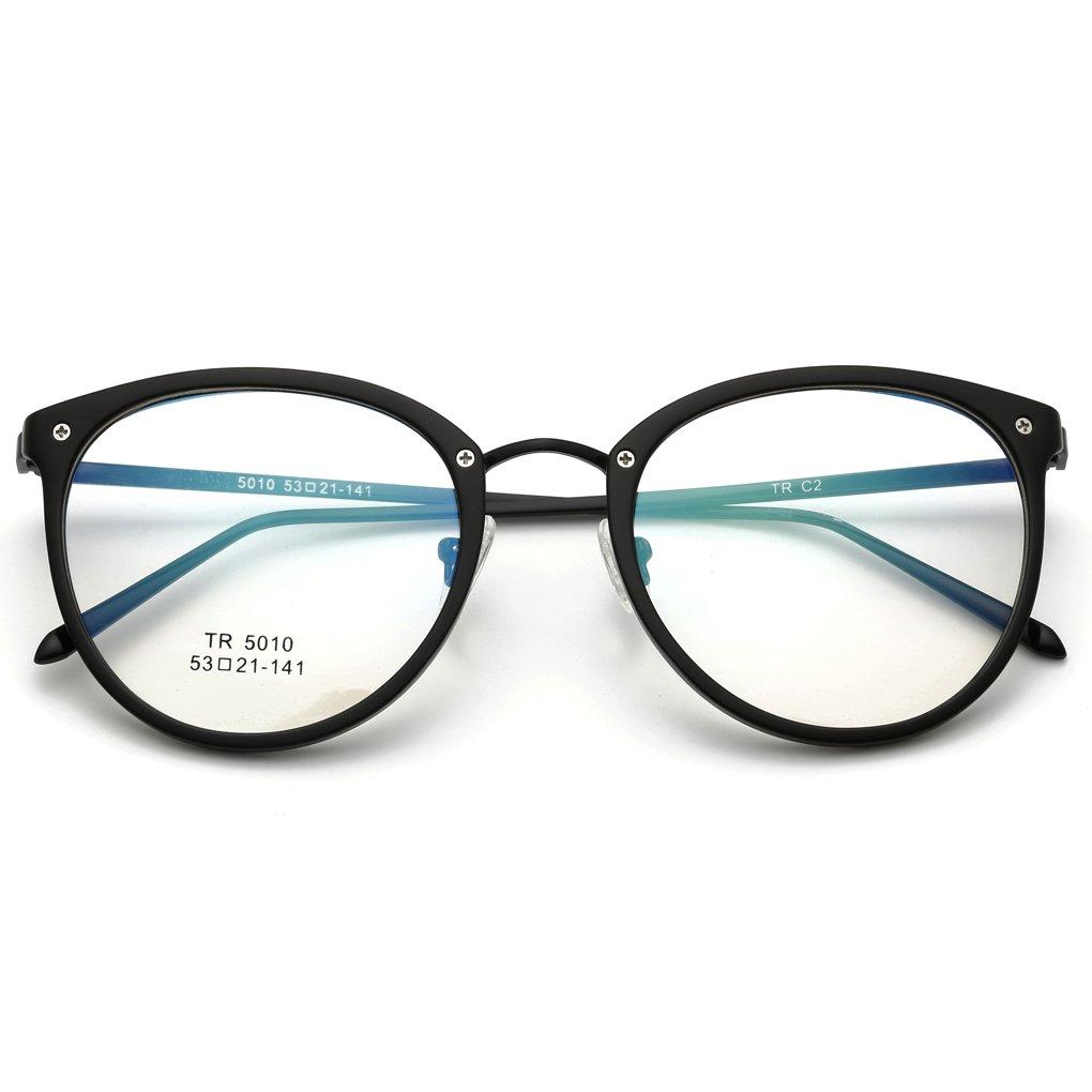 QHGstore Mode-Glas-Rahmen-Frauen TR90 Dioptrien Computer-Brille Mann ...