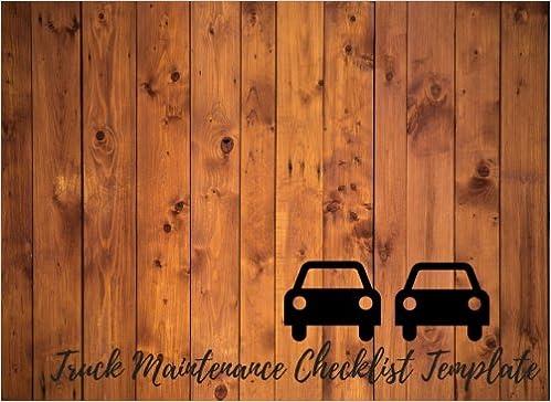 truck maintenance checklist template car maintenance repair log
