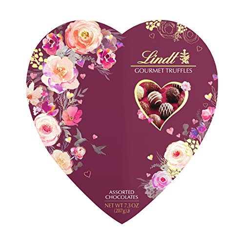 (Lindt Valentine Heart Gourmet Truffles Gift Box, 7.3 Ounce)