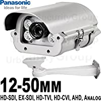 USG 12-50mm 1080P Telephoto Lens 6-in-1 CCTV Format Panasonic Chip 1080P 2MP High Definition Security Camera : 6MP 12-50mm Auto-Iris Lens, 4x IR LEDs : HD-SDI, EX-SDI, HD-TVI, HD-CVI, AHD, Analog