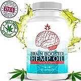 Hemp Oil Brain Supplement Capsules for Focus, Clarity, Memory & Mood Enhancement - Brain Booster Mental Performance Nootropic with Super Ginkgo Biloba Formula & Organic Hemp Oil 30 Capsules