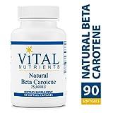 Vital Nutrients – Natural Beta Carotene 25,000 IU – Precursor to Vitamin A and an Antioxidant – 90 Softgel Capsules