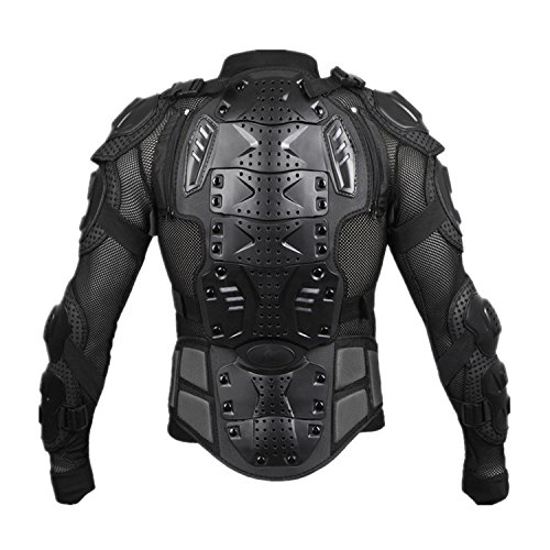 Motorcycle Full Body Armor Protective Jacket Guard ATV Motocross Gear Shirt (XXL, black) by Niree (Image #3)'