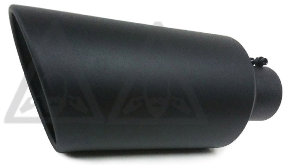 High Temperature Black Coated Diesel Truck Bolt On Exhaust Tip (4'' x 8'' x 18'')