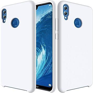 CoverTpu Funda Huawei Honor 8X Silicona, Blanco Funda Líquido de ...