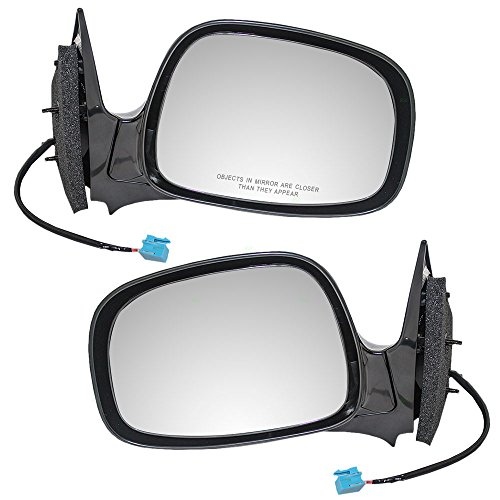 (Driver and Passenger Power Side View Mirrors Ready-to-Paint Replacement for Buick SUV 15213869 15213868)