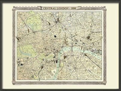 Old london map from the royal atlas 1898 large paper amazon old london map from the royal atlas 1898 large paper gumiabroncs Gallery