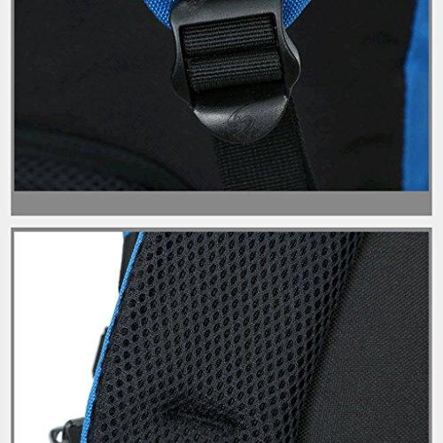 alas al aire libre del bolso de hombro bolsa de deporte al aire libre del alpinismo mochila de gran capacidad repelente al agua naranja