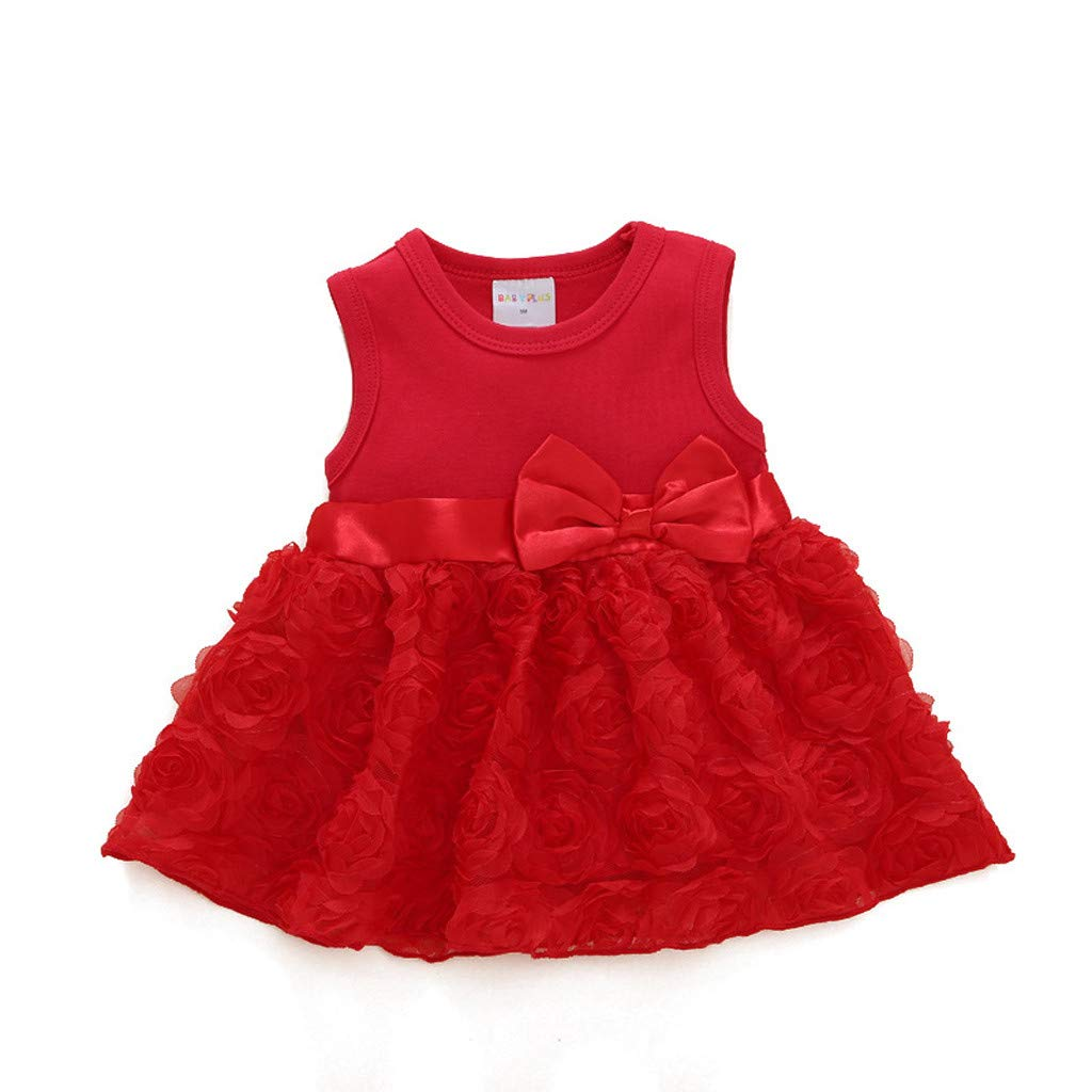 Infant Baby Girls Summer Clothes Sets for 3-24 Months Sleeveless Bowknot Flower Princess Dress Shoes Outfits Set