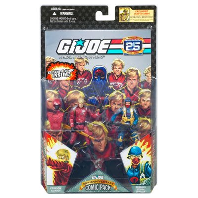 G.I. JOE 25th Anniversary Comic Pack: CRIMSON GUARD and SCARRED COBRA OFFICER