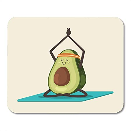 XIUZHIZH Mouse Pad Cute Avocado in Yoga Pose Funny Cartoon ...