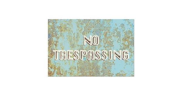 CGSignLab Stripes White Window Cling No Trespassing 5-Pack 27x18