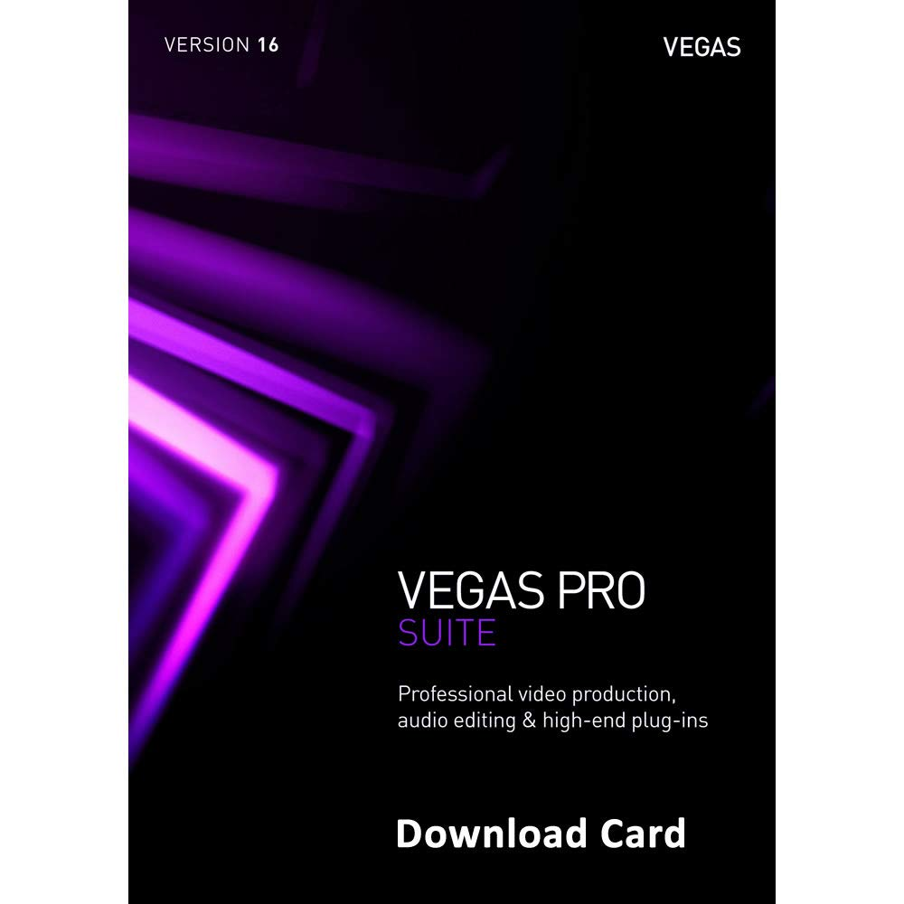 Amazon com: MAGIX Vegas Pro Suite 16 (Download Card) - Professional